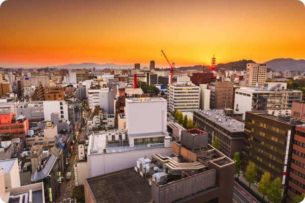 熊本市の夕焼け