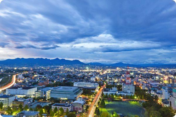 群馬県の都会風景
