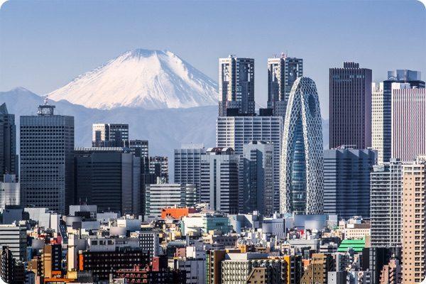 東京から富士山が見える光景