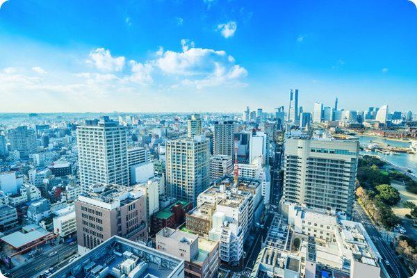 横浜市の街並み